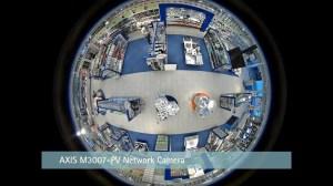 Пример съемки панорамной видеокамерой высокого разрешения