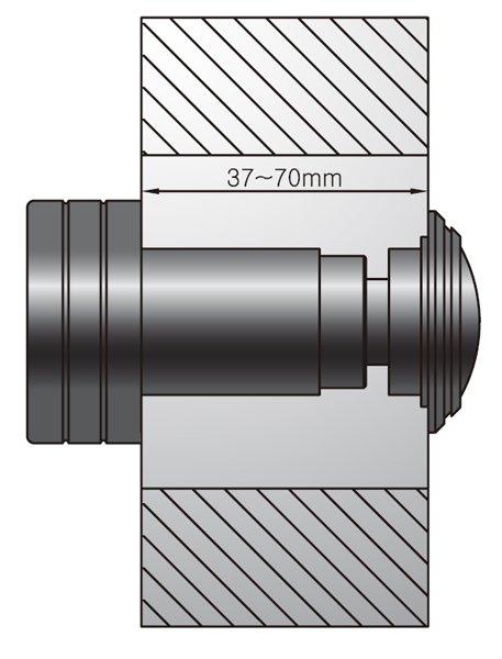 Схема установки видеоглазка в дверь