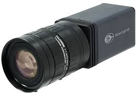 Видеокамера с установленным объективом для получения изображения на нужном расстоянии