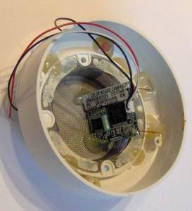 Установка скрытой видеокамеры в датчик пожарной сигнализации