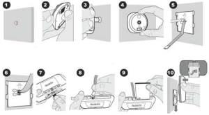 Инструкция по установке видеоглазка FE-VE02-S