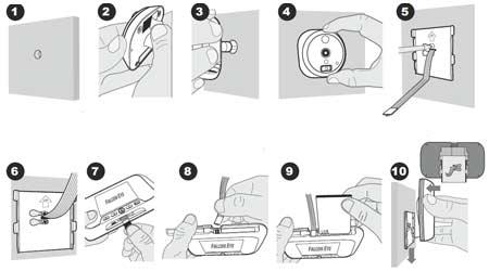 Инструкция по установке видеоглазка Falcon Eye FE-VE02 с записью