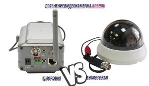 Сравнение видеокамер: аналоговых и цифровых