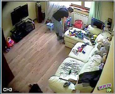 Запись с камеры в квартире. Наблюдение за обстановкой в квартире