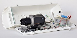 Установленная камера в термокожух