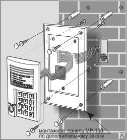 Схема установки вызывной панели