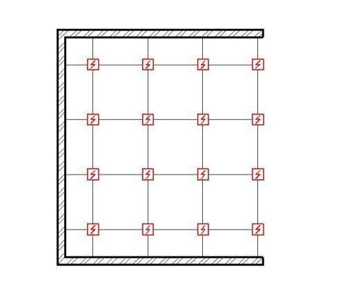 Схема подключения датчиков - квадрат