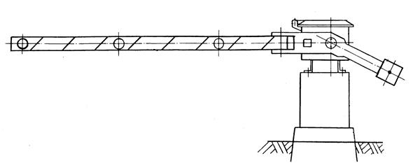 схема самодельного ручного шлагбаума