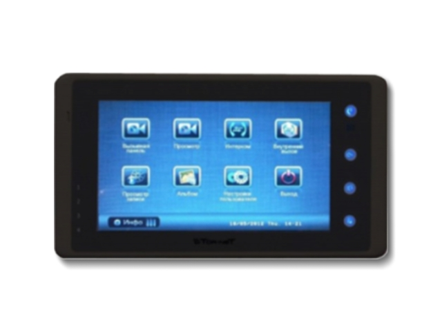 видеомонитор с сенсорным цветным дисплеем, предназначенный для много- и одноабонентских систем с встроенной памятью