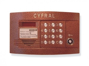 многоабонентский врезной домофон, с поддержкой связи типа «радио». Рассчитан на обслуживание 200 абонентов