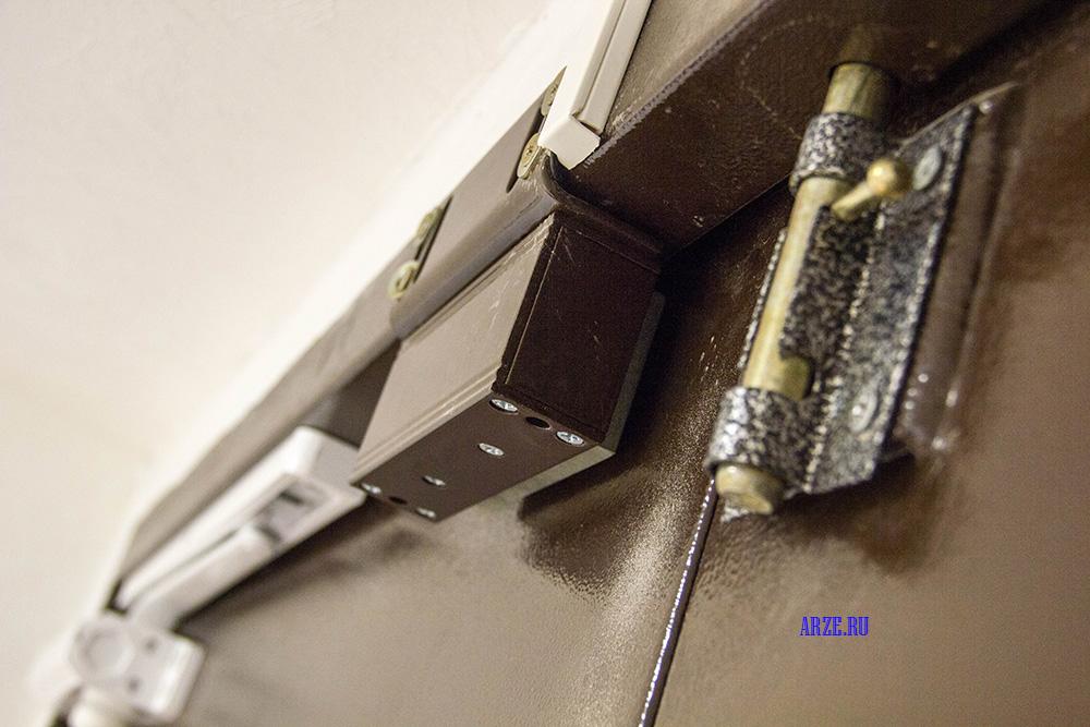 результат установки доводчика двери и электромагнитного замка