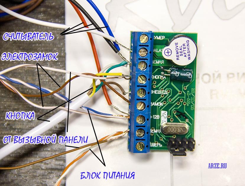 Схема подключения контроллера
