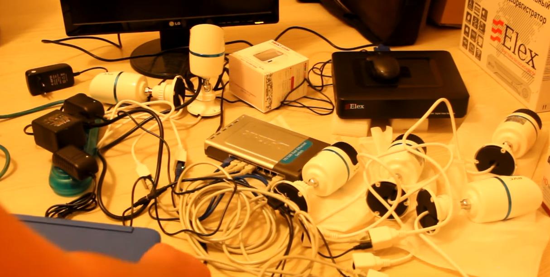 Скриншот подключения оборудования из видеоролика