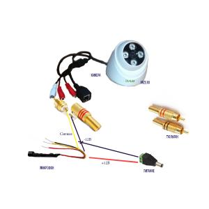 Схема подключения микрофона МК-1 к IP камере