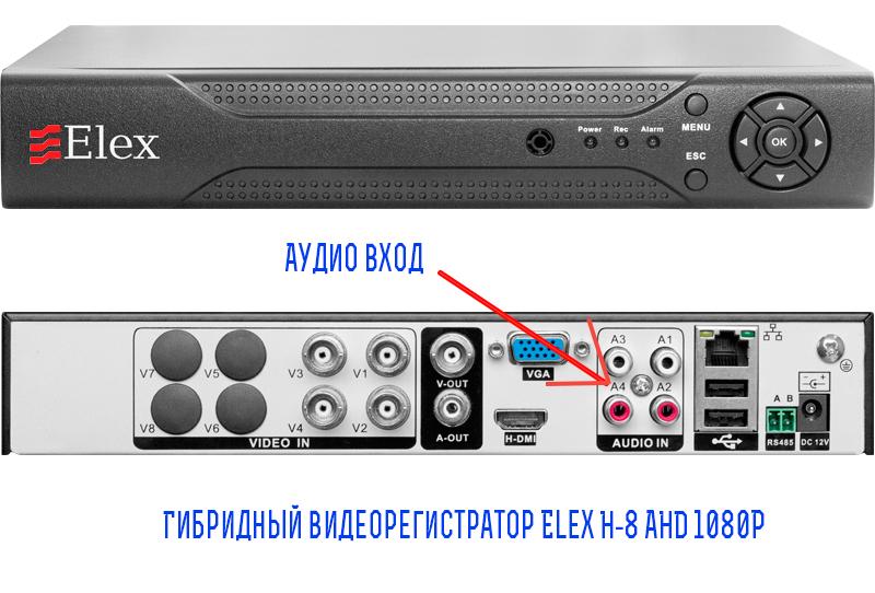 Видеорегистратор Elex H-8 Middle AHD 1080P