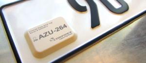 RFID метка прикрепленная на государственный номер