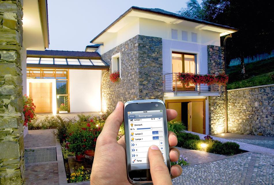 управление освещением с помощью телефона