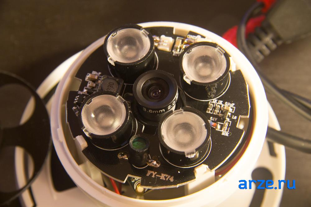 разобранная купольная камера RVC-6760Е